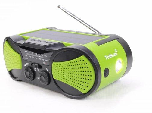 Totle Totle Noodradio Superior - 4000mah + Batterij - Zonnepaneel - Opwindbaar