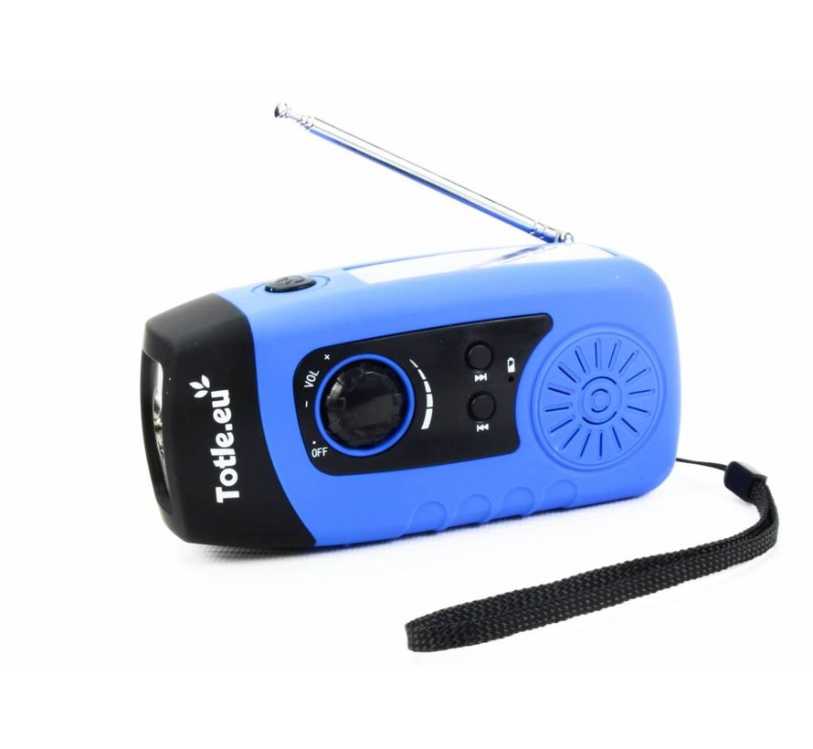Totle Emergency Radio Basic - 2000mah Powerbank - Solar Panel - Wind-up