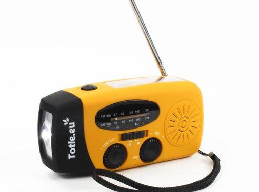 Totle Totle Noodradio Essential - 1000mah Powerbank - Zonnepaneel - Opwindbaar