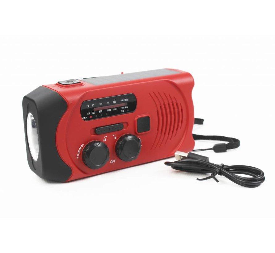 Totle Noodradio Essential Plus - 2000 mAh - Zonnepaneel - Opwindbaar