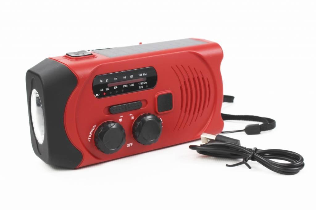 Totle Totle Noodradio Essential Plus 2000 mAh Zonnepaneel Opwindbaar