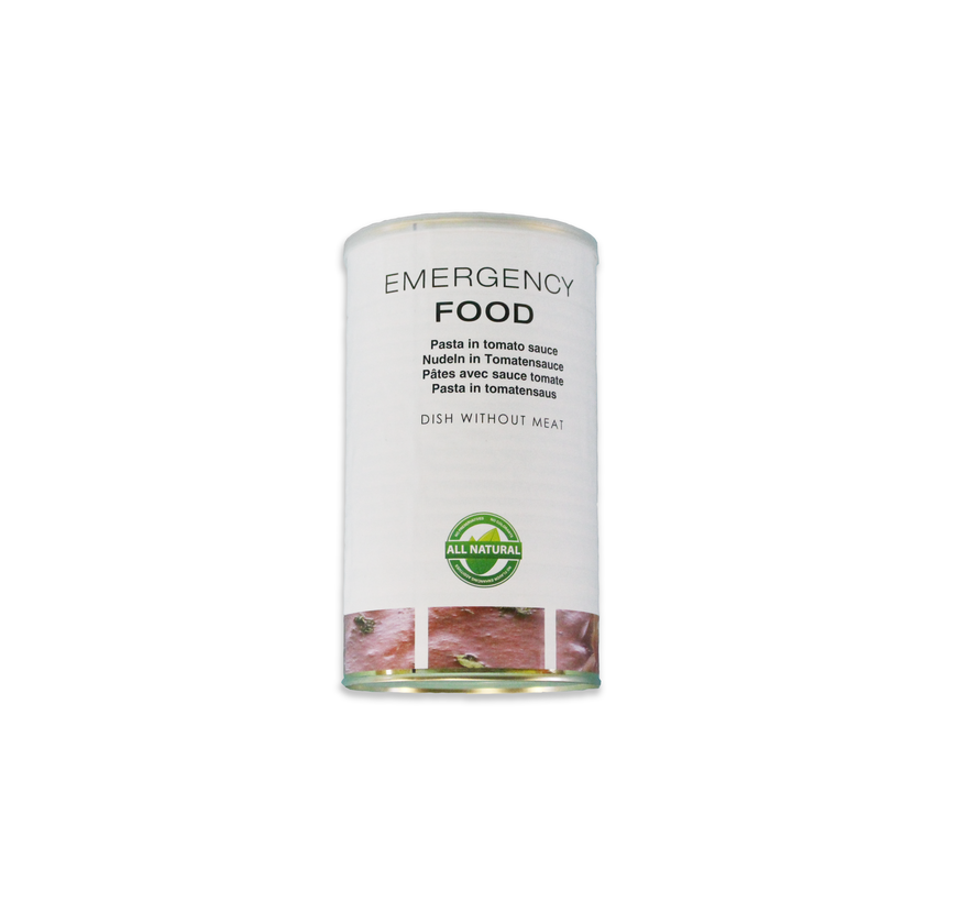 Emergency ration Pasta in tomato sauce - shelf life 15 years