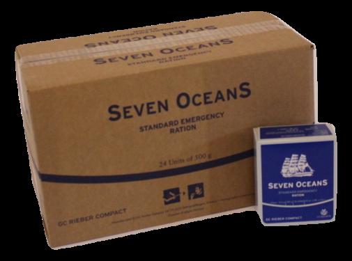 GC Rieber Compact Seven Oceans - Noodrantsoen - 2500 Calorieën - hele doos met 24 stuks