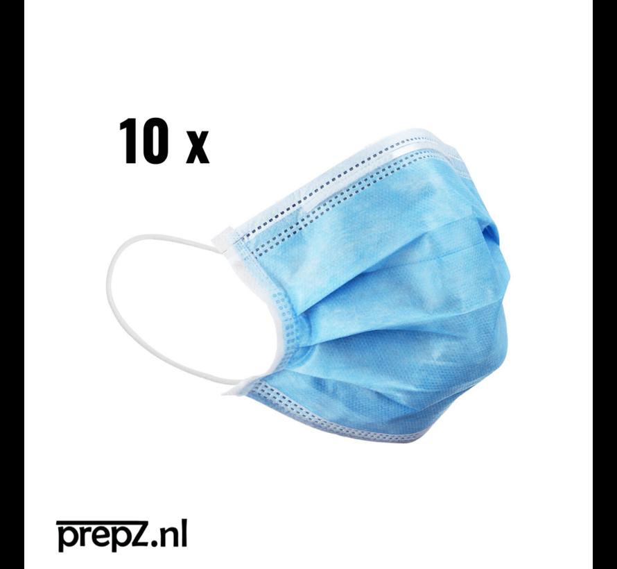 Gecertificeerde - wegwerp mondmaskers - ideaal voor het openbaarvervoer (10x)