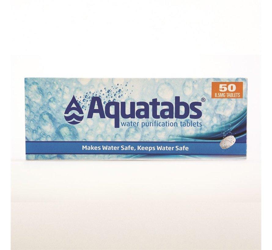 Aquatabs - waterzuiveringstabletten - 50 stuks - veilig drinkwater