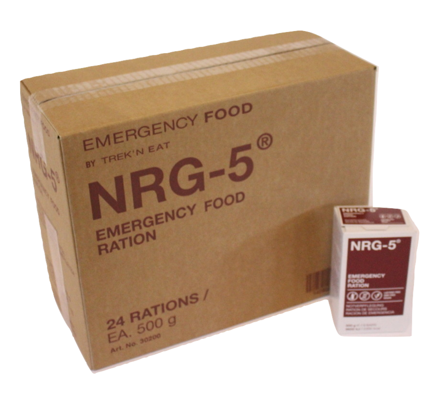 NRG-5 - Noodrantsoen - 2300 kcal - Vegan - Hele Doos met  24 stuks
