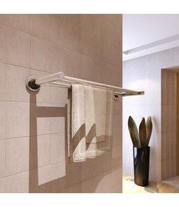 Handdoekenrek met 2 buizen roestvrij staal