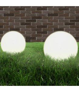 LED-bollampen 2 st rond 40 cm PMMA
