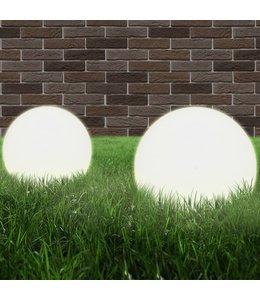 LED-bollampen 2 st rond 20 cm PMMA