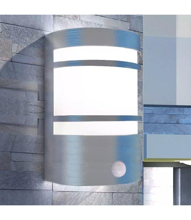 Buitenwandlamp met sensor RVS