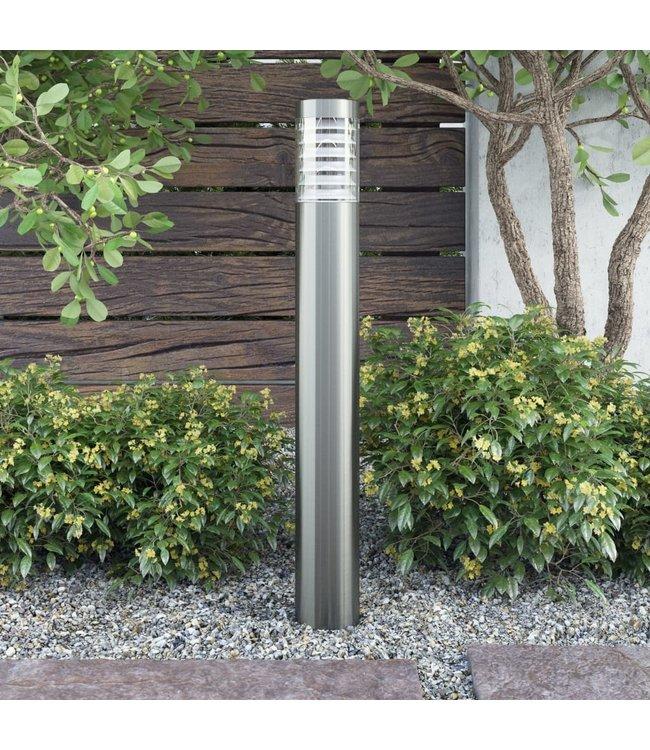 Cilindervormige RVS LED tuinlamp staand model