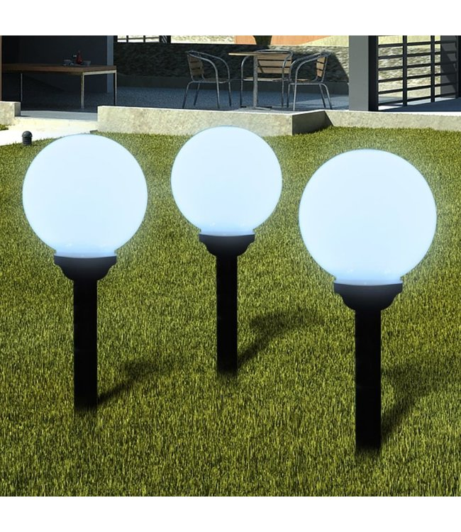 Buitenverlichting op zonne-energie (balvormig) LED 20 cm (3 st)