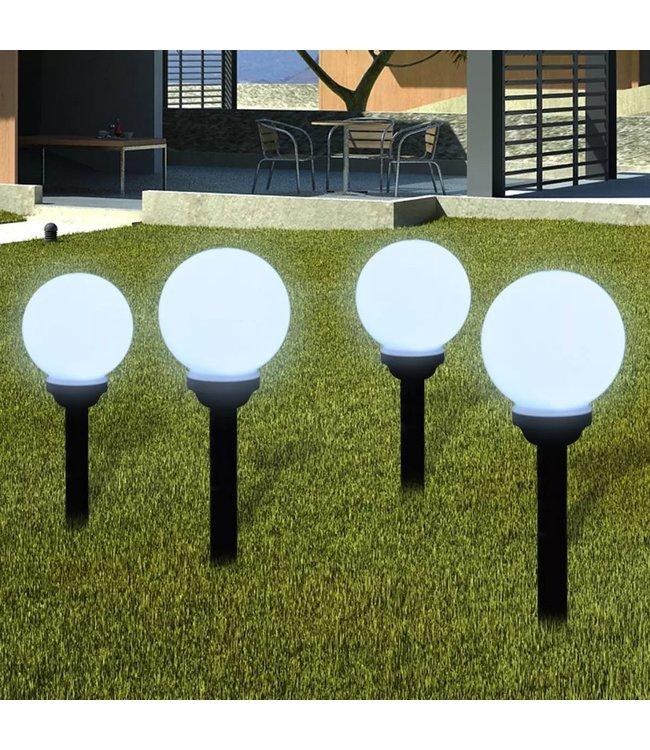 Buitenverlichting op zonne-energie (balvormig) LED 15 cm (4 st)