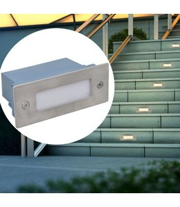 LED verzonken traplamp 6 st 44x111x56 mm