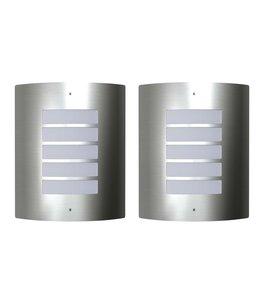 Buitenlamp RVS Falerna 2 st