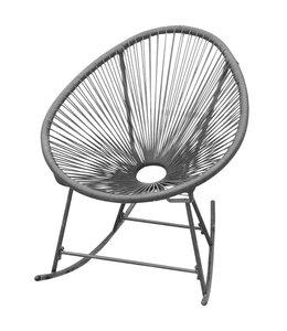 Tuinschommelstoel poly rattan zwart