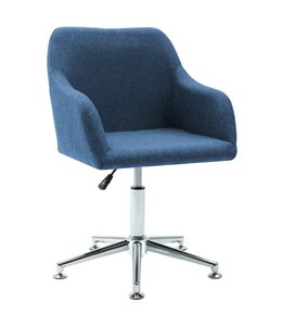 Kantoorstoel draaibaar stof blauw