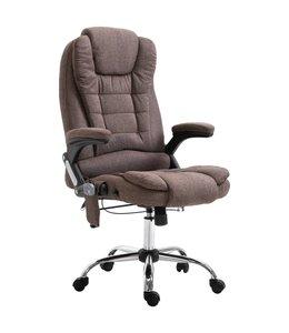 Massage kantoorstoel polyester bruin