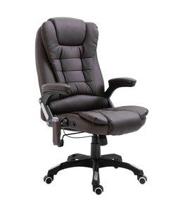 Massage kantoorstoel kunstleer bruin