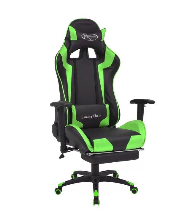 Bureau-/gamestoel verstelbaar met voetensteun Xtreme groen