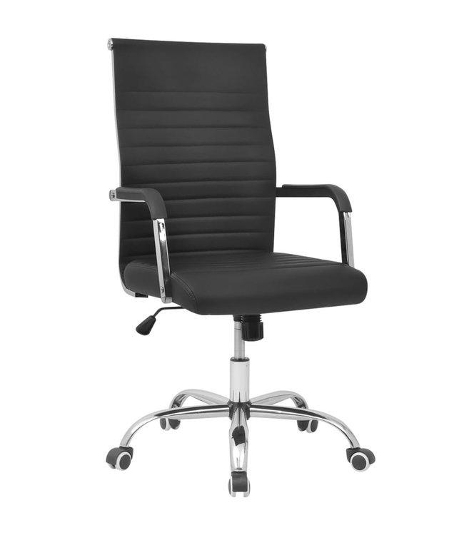 Bureaustoel 55x63 cm kunstleer zwart