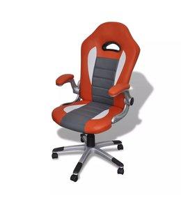 Bureaustoel modern ontwerp oranje kunstleer