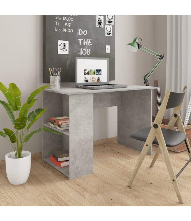 Bureau 110x60x73 cm spaanplaat betongrijs