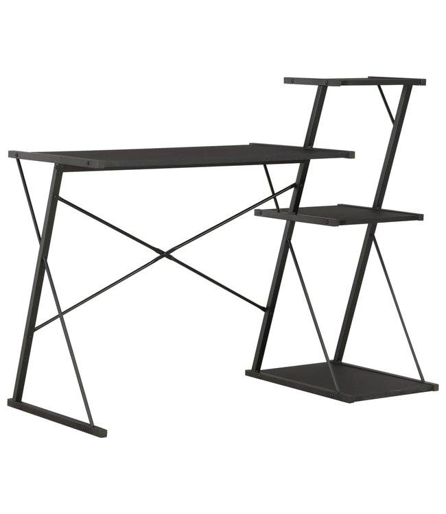Bureau met schap 116x50x93 cm zwart
