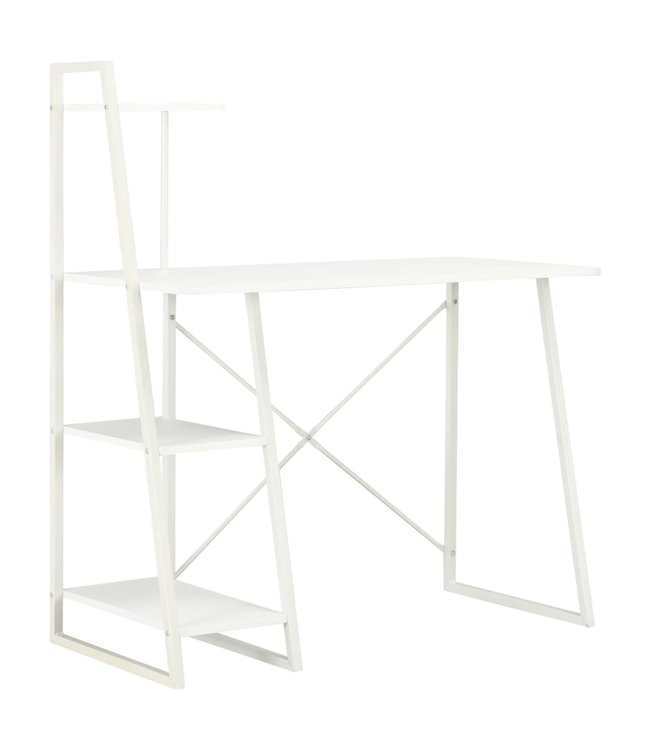 Bureau met schappen 102x50x117 cm wit