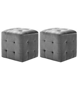Nachtkastjes 2 st 30x30x30 cm fluweel zwart