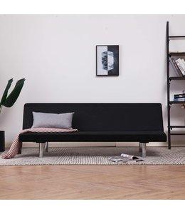Slaapbank polyester zwart