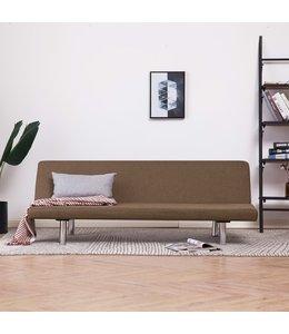 Slaapbank polyester bruin