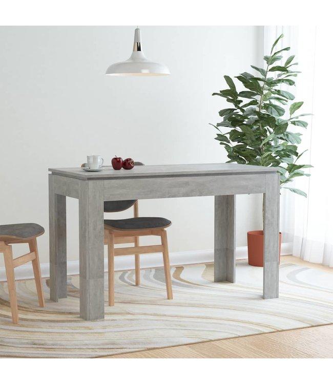 Eettafel 120x60x76 cm spaanplaat betongrijs