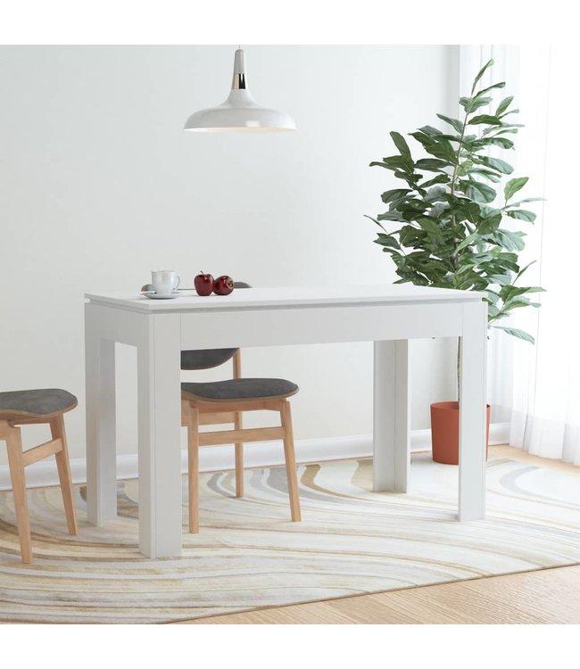 Eettafel 120x60x76 cm spaanplaat wit