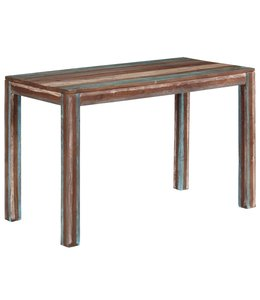 Eettafel vintage 118x60x76 cm massief hout