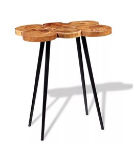 Boomstam bartafel massief acaciahout 90x60x110 cm