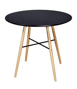 Eettafel rond MDF zwart