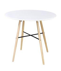 Eettafel rond MDF wit