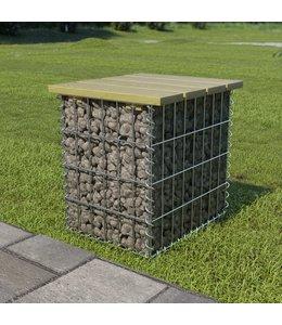 Tuinkruk 40x40x45 cm gegalvaniseerd staal en grenenhout