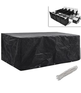 Tuinmeubelhoes voor 8-persoons poly rattan set 229x113 cm