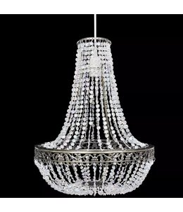 Kroonluchter kristal-look 36,5x46 cm