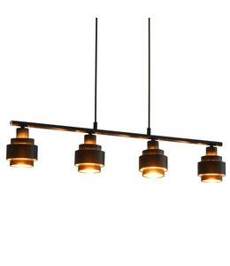 Platfondlamp E14 82 cm zwart