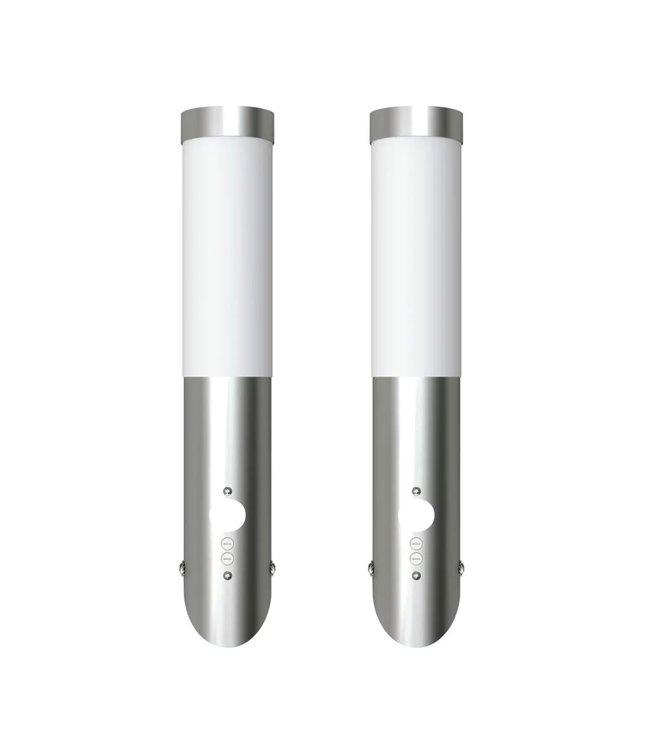 Buitenlamp RVS Enego met sensor (2 stuks)