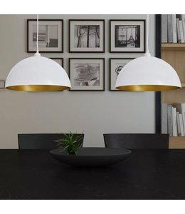 Plafondlampen in hoogte verstelbaar halfrond wit 2 st