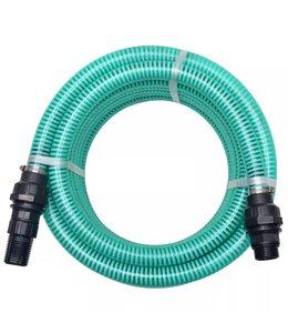 Zuigslang met koppelingen 4 m 22 mm groen