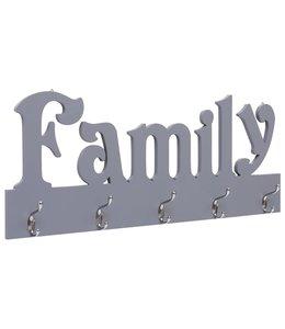 Wandkapstok FAMILY 74x29,5 cm grijs