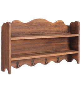 Wandkapstok 50x10x30 cm hout bruin