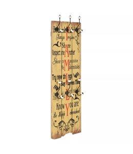 Wandkapstok met 6 haken FAMILY 120x40 cm