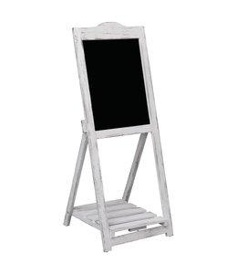 Krijtbord op standaard 42x44x112 cm hout wit