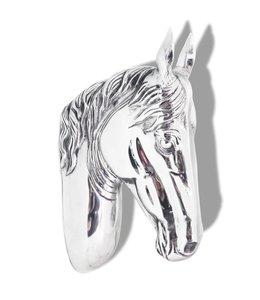 Paardenhoofd muurdecoratie aluminium zilver